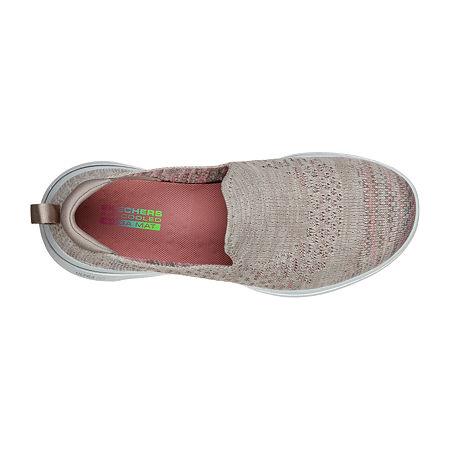 Skechers Go Walk 5 Womens Walking Shoes, 8 1/2 Medium, Beige
