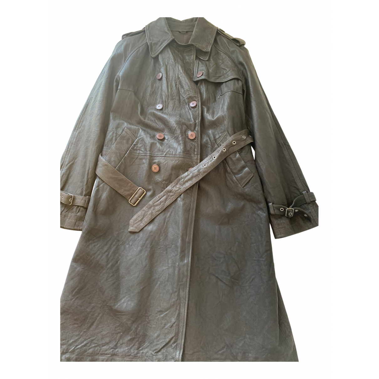 Non Signé / Unsigned N Brown Leather coat for Women L International