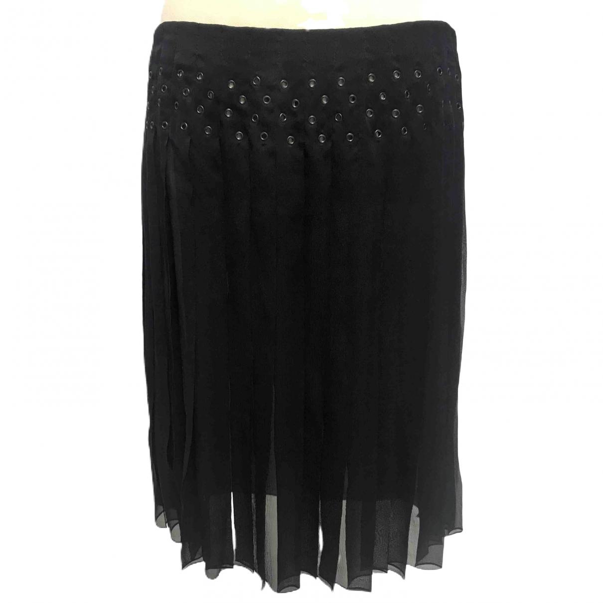 Prada \N Black Silk skirt for Women 42 IT