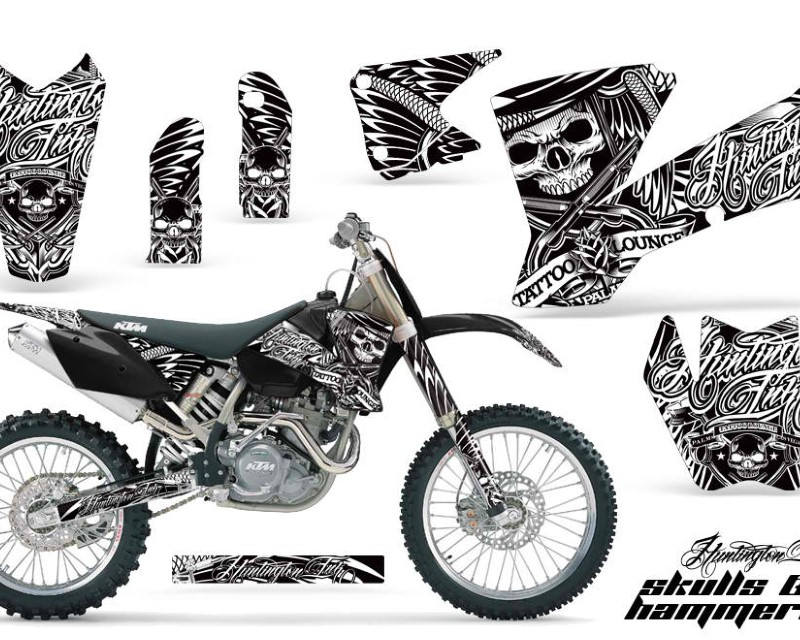 AMR Racing Dirt Bike Graphics Kit Decal Wrap For KTM  SX SXS EXC MXC 2001-2004áHISH WHITE