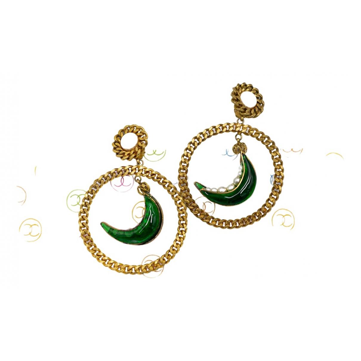 Chanel \N Green Glass Earrings for Women \N