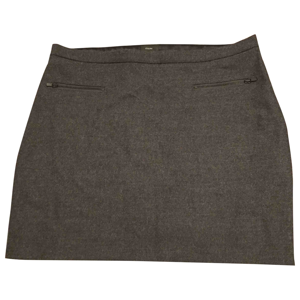 Joseph \N Grey Wool skirt for Women 40 IT