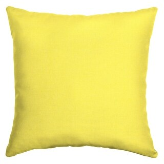 Arden Selections Outdoor 16 x 16 in. Square Pillow (Lemon Leala Texture - 16 in L x 16 in W x 5 in H)