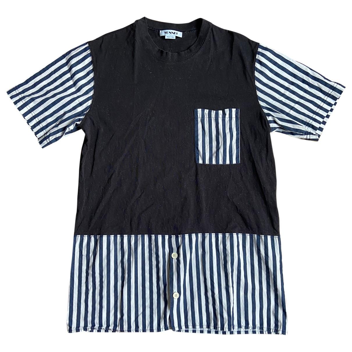 Sunnei - Tee shirts   pour homme en coton - marine