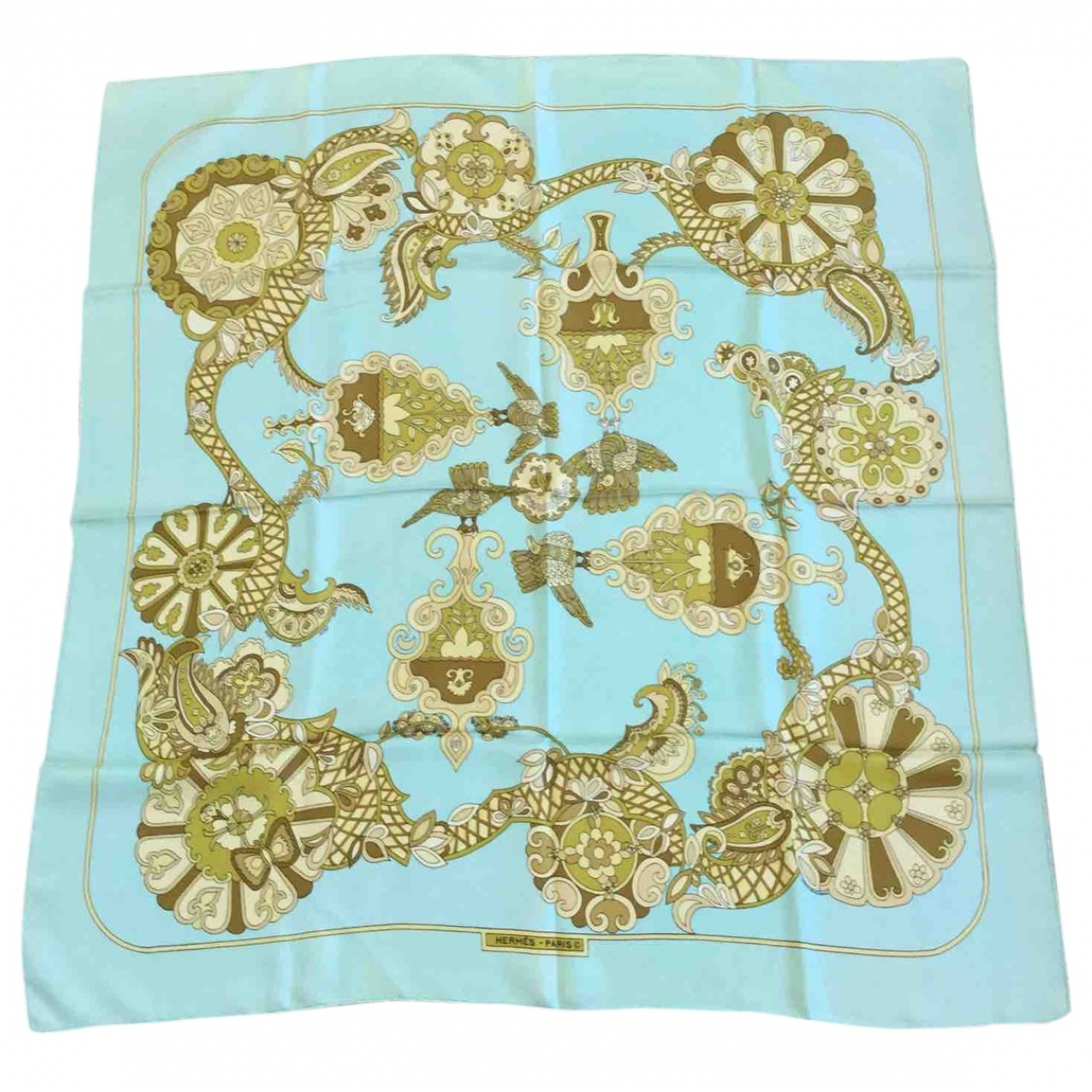Hermès Carré 90 Turquoise Silk Silk handkerchief for Women \N