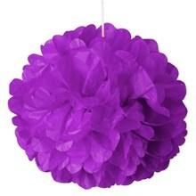 16 Purple Tissue Pom Pom - Quantity: 5 - Wedding Packaging by Paper Mart