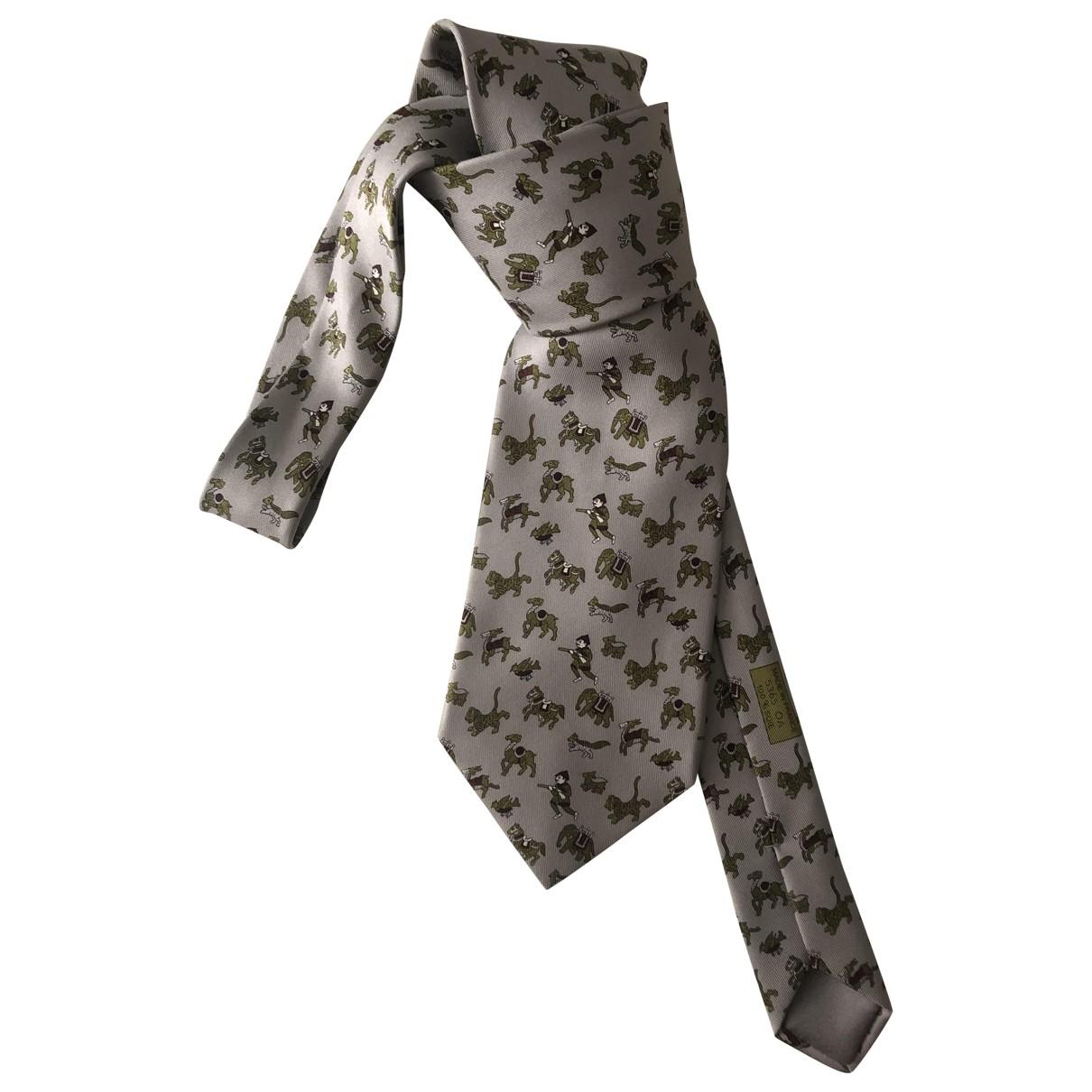 Hermes - Cravates   pour homme en soie - multicolore
