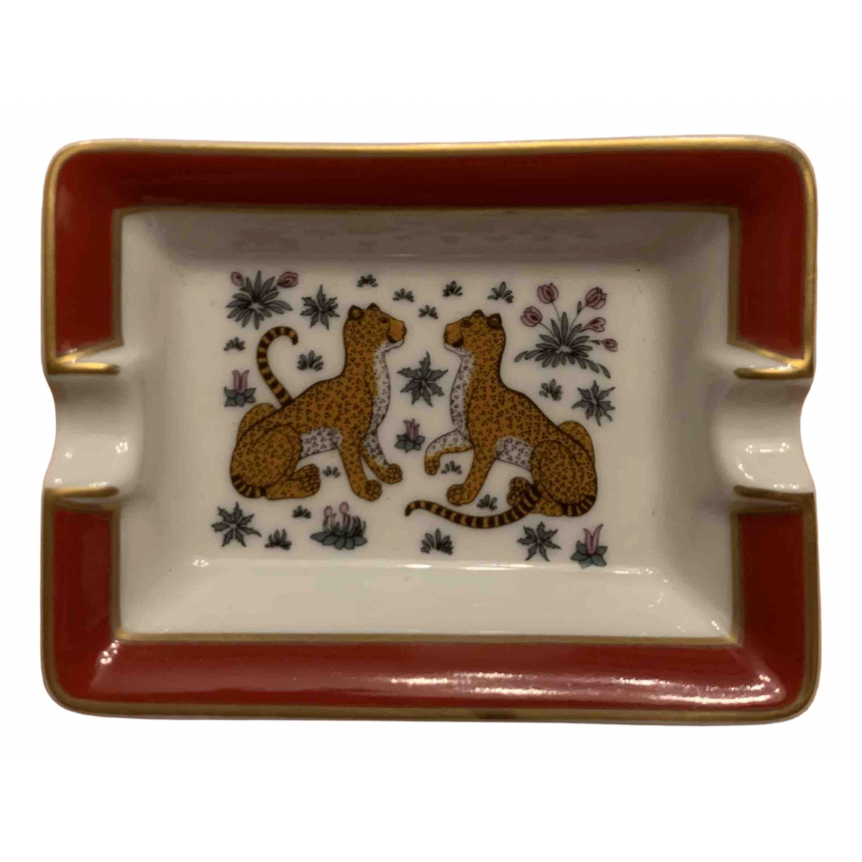Hermes - Objets & Deco Les Leopards pour lifestyle en porcelaine - rouge
