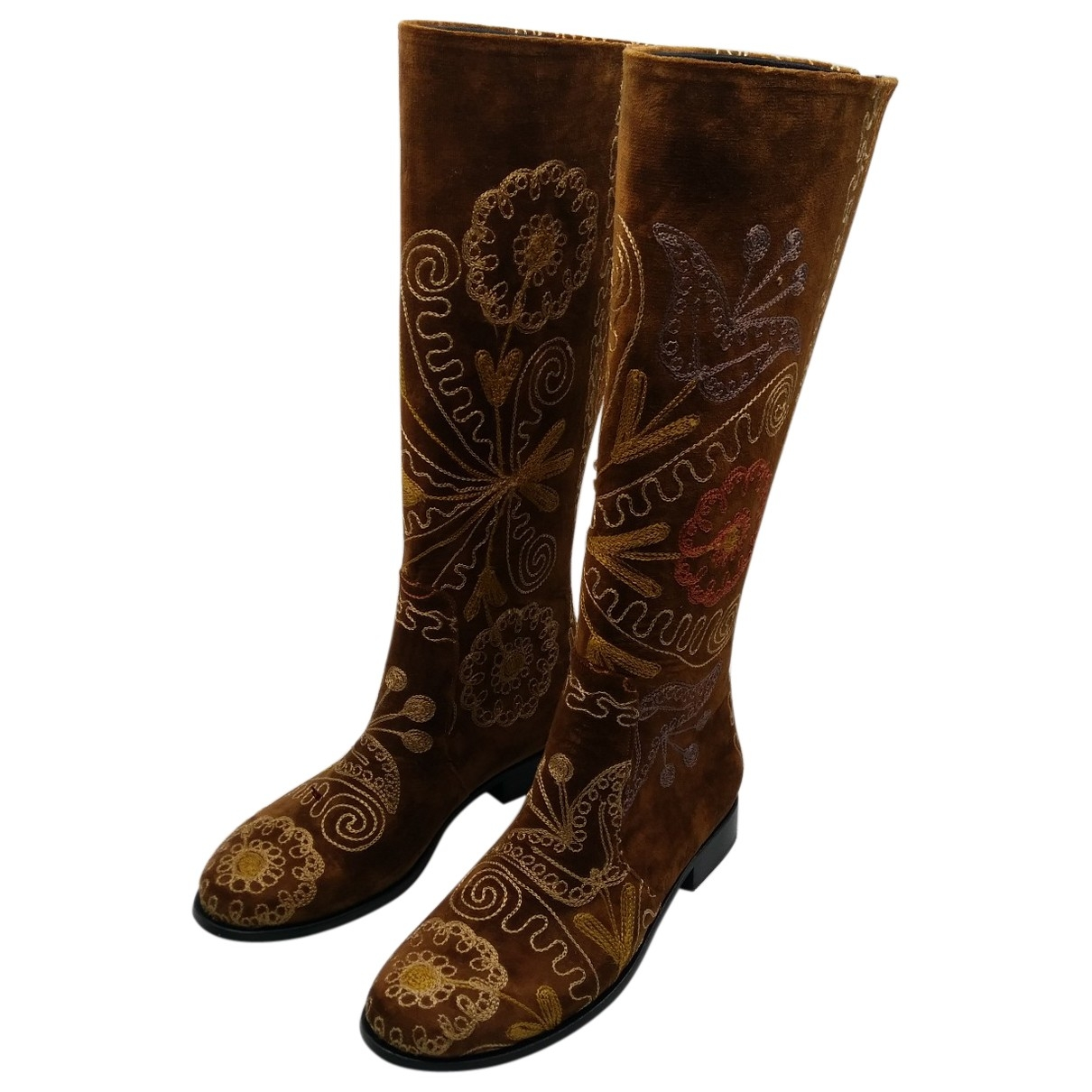 Non Signé / Unsigned \N Leather Boots for Women 40 EU