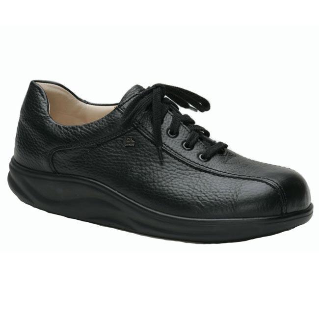 Finn Comfort Watford Black Leather Soft Footbed 9 Uk