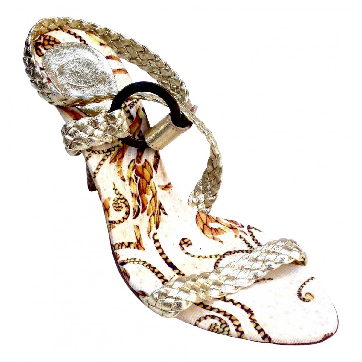 Just Cavalli - Sandales   pour femme en cuir - dore