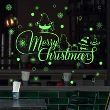 2pcs Christmas Pattern Luminous Window Sticker