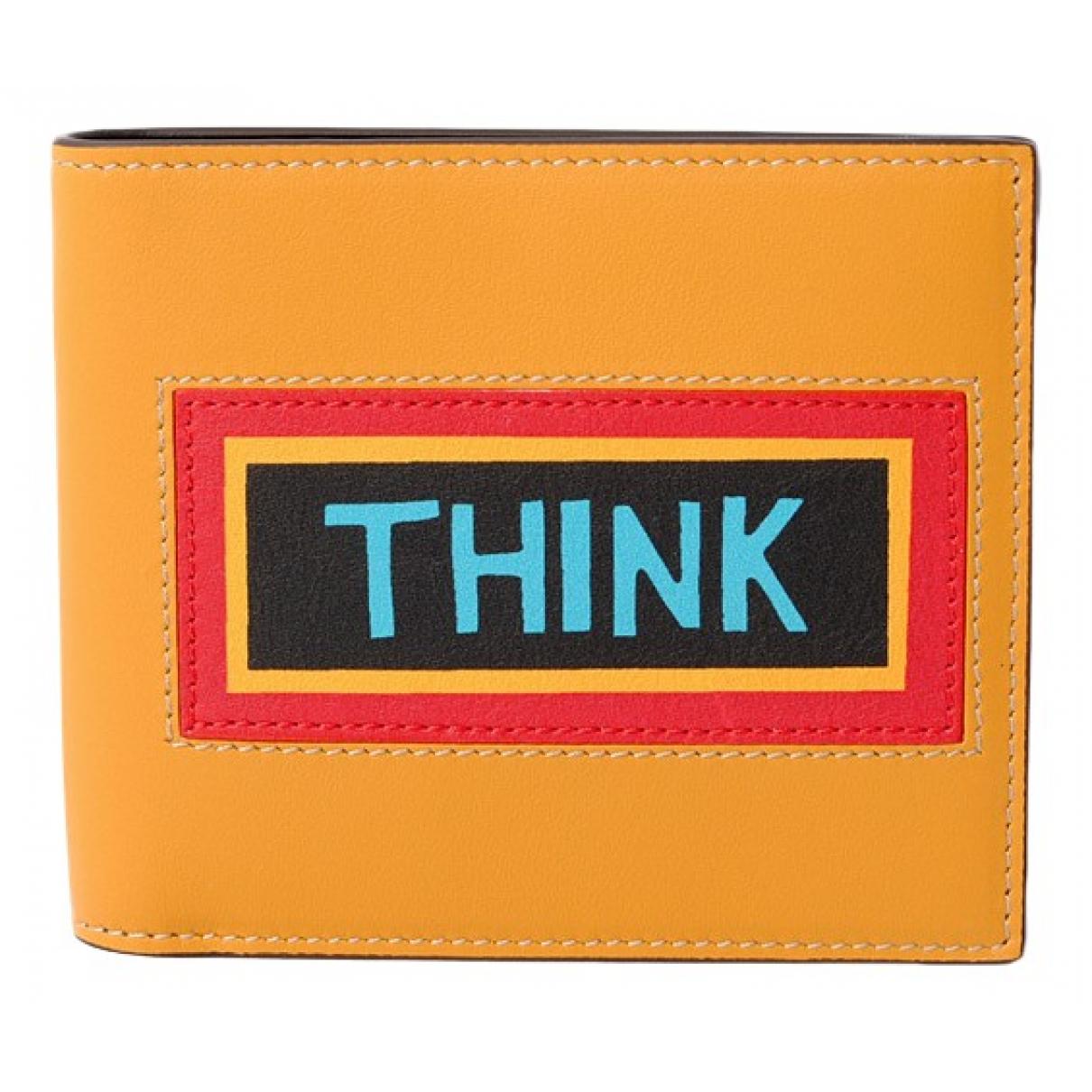 Fendi \N Portemonnaie in  Orange Leder