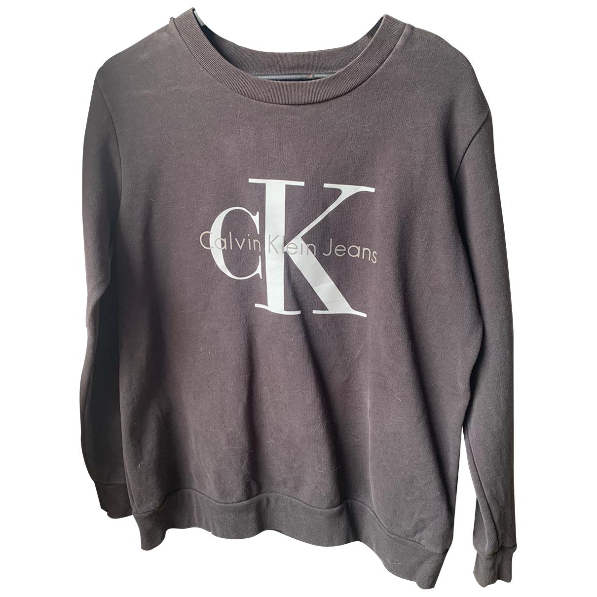 Calvin Klein - Pull   pour femme en coton - gris