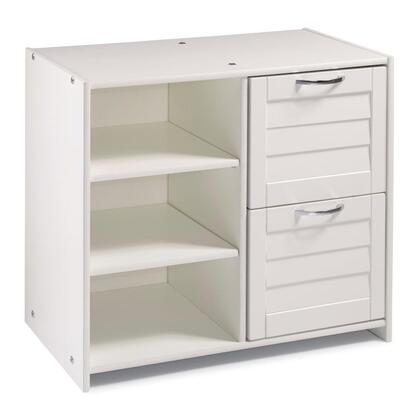 790-CW Louver Low Loft 2 Dr Chest/Shelves in