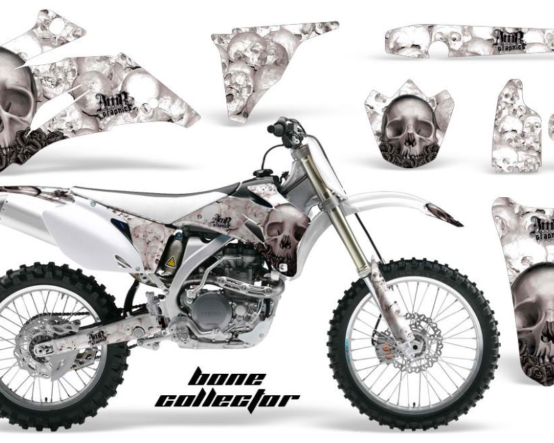 AMR Racing Dirt Bike Graphics Kit Decal Wrap For Yamaha YZ250F YZ450F 2006-2009áBONES BLACK WHITE