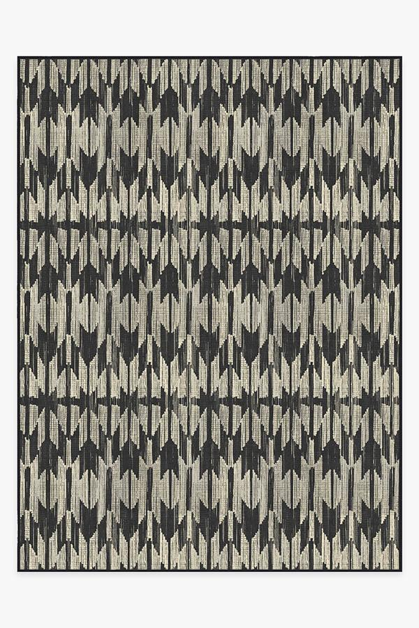 Washable Rug Cover | Hesperia Black Rug | Stain-Resistant | Ruggable | 9'x12'