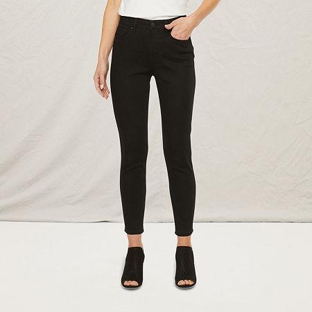a.n.a Womens High Rise Skinny Ankle Fit Jean, 18 , Black