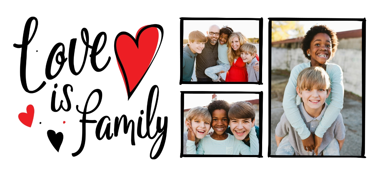 Family + Friends 11 oz. Red Accent Mug, Gift -Family Love