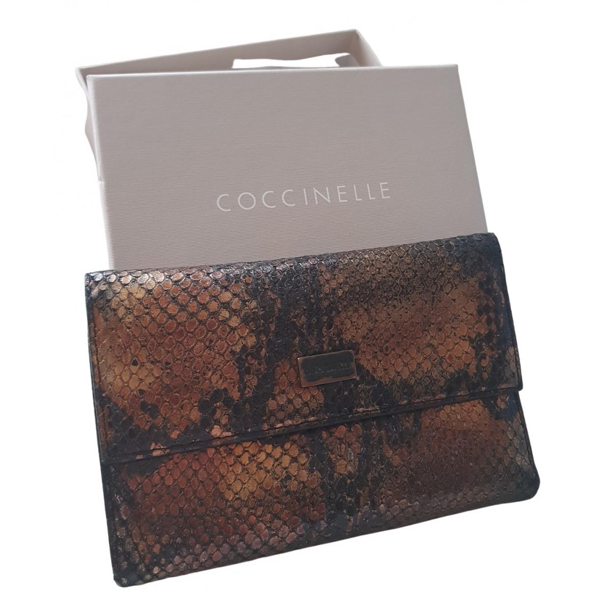 Coccinelle - Portefeuille   pour femme en cuir - dore