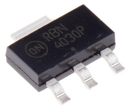 ON Semiconductor ON Semi NJT4030PT1G PNP Transistor, 5 A, 40 V, 3 + Tab-Pin SOT-223 (10)