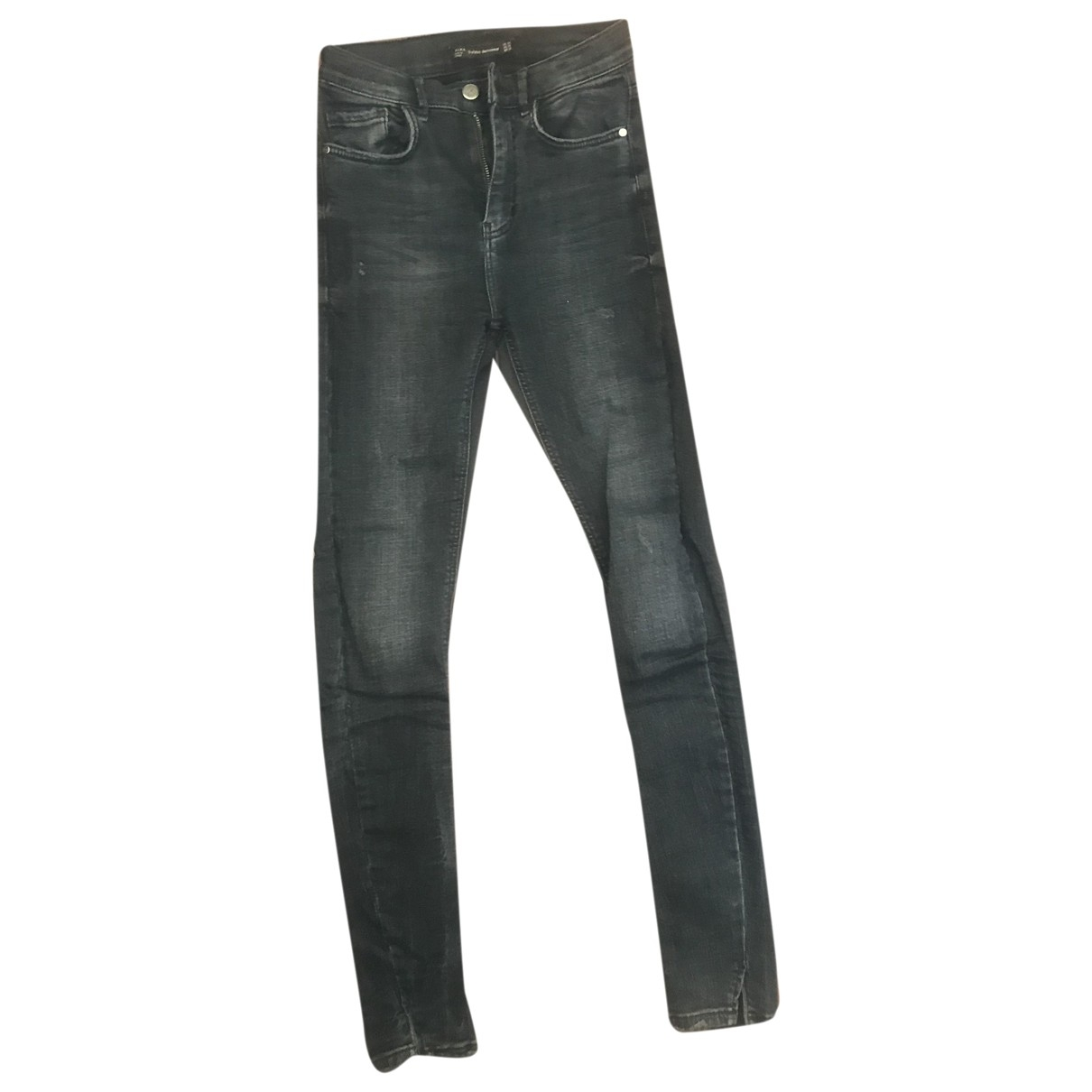 Zara \N Grey Cotton - elasthane Jeans for Women 34 FR