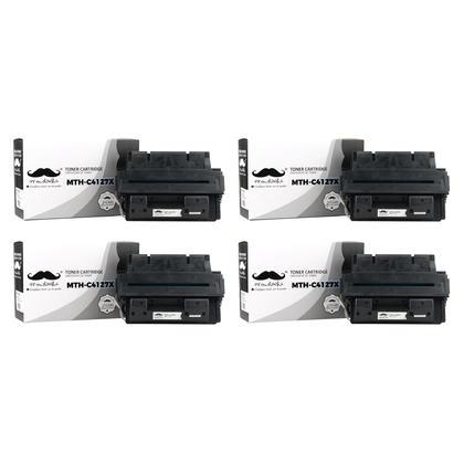 Compatible HP 27X C4127X Black Toner Cartridge - Moustache@ - 4/Pack