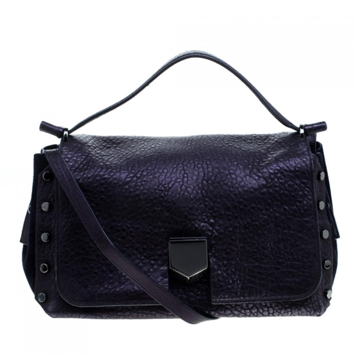 Jimmy Choo Lockett Handtasche in  Lila Leder