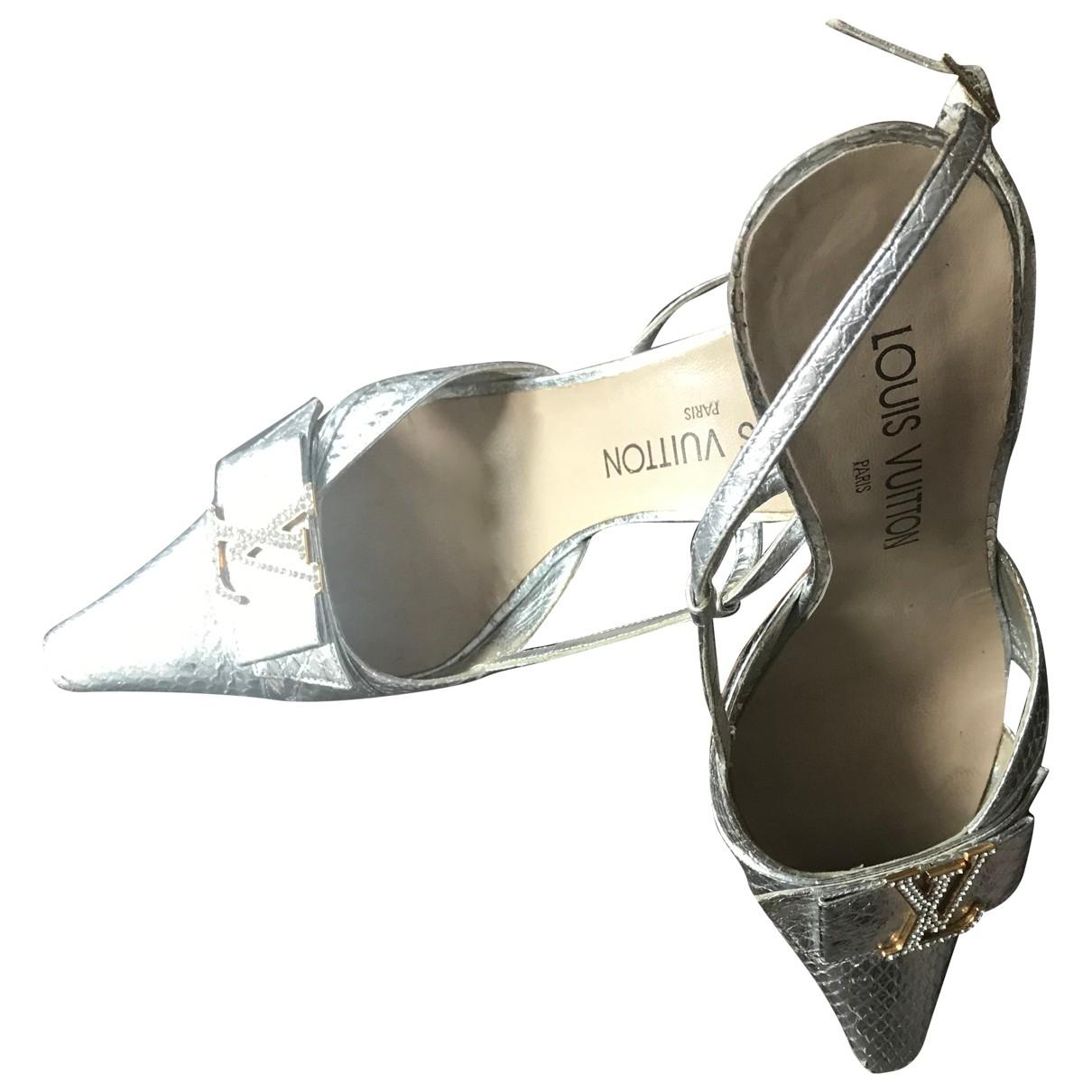 Louis Vuitton \N Silver Python Sandals for Women 36.5 EU
