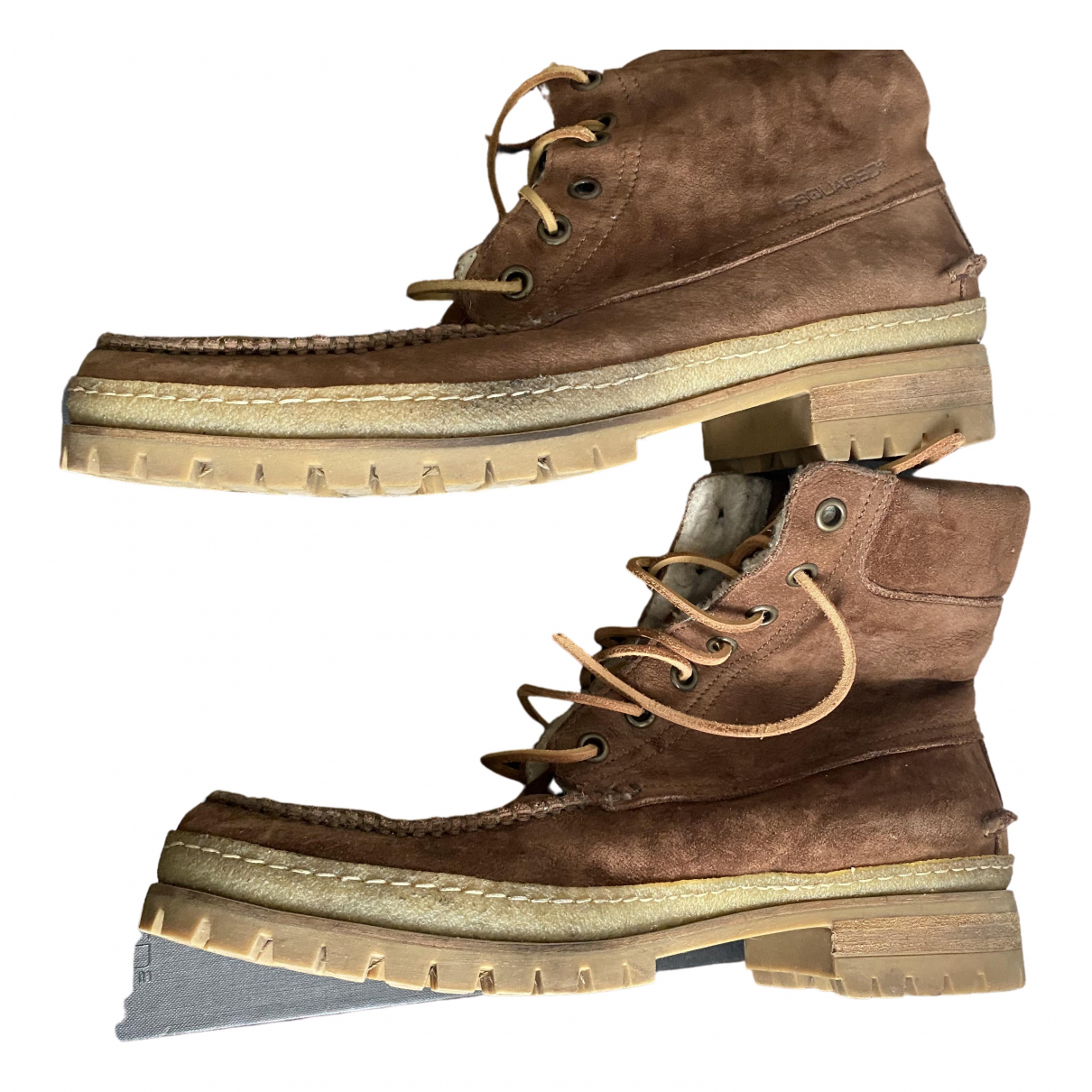 Dsquared2 \N Brown Leather Boots for Men 45 EU