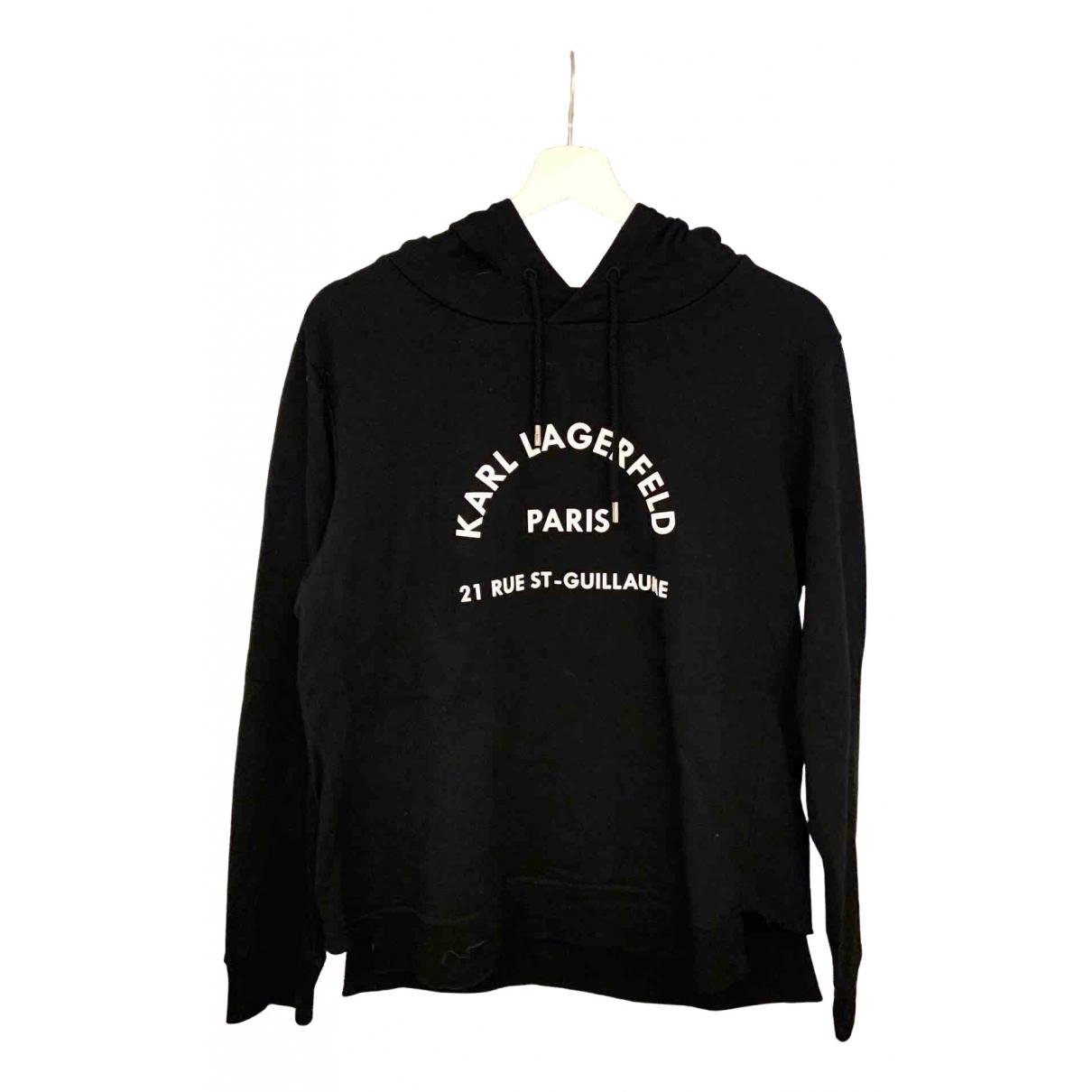 Karl Lagerfeld - Pull   pour femme en coton - noir