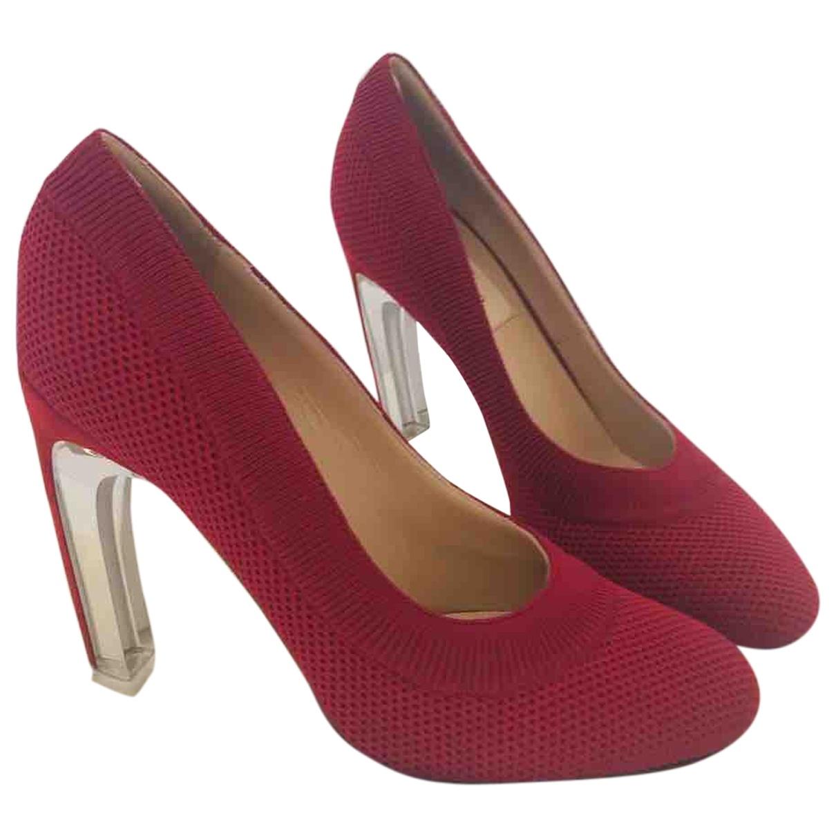 Valentino Garavani \N Burgundy Cloth Heels for Women 37 EU