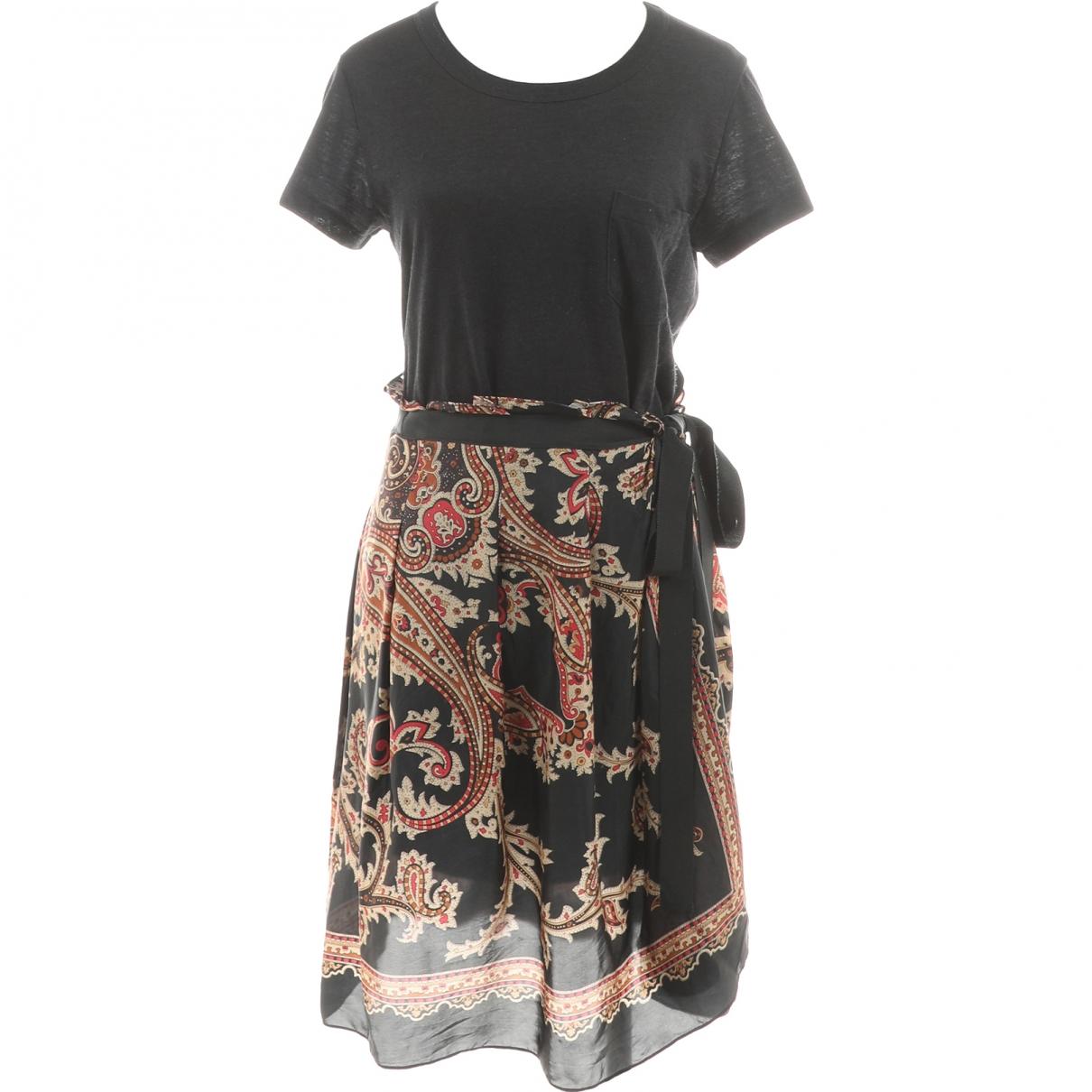 Sacai \N Kleid in  Schwarz Leinen