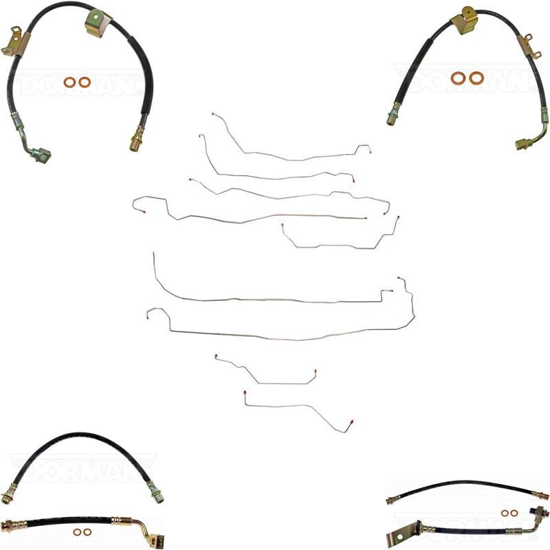 Fine Lines BLH97 Complete Brake Line & Hose Kit For 03-07 Hummer H2 Stainless
