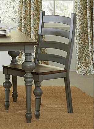 Colonnades D880-62 Ladder Dining Chairs (Set of 2) in Weathered