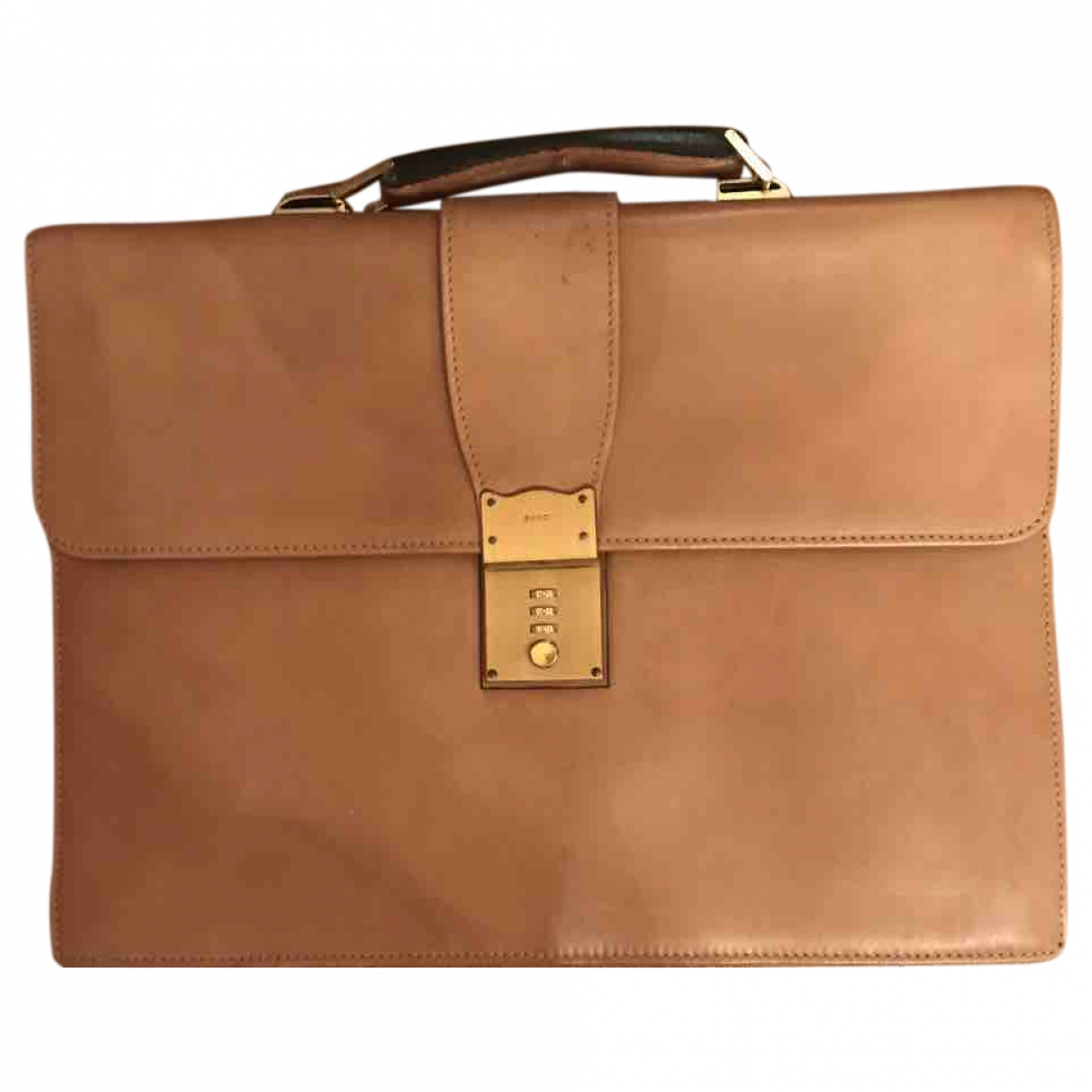 Gucci \N Beige Leather bag for Men \N