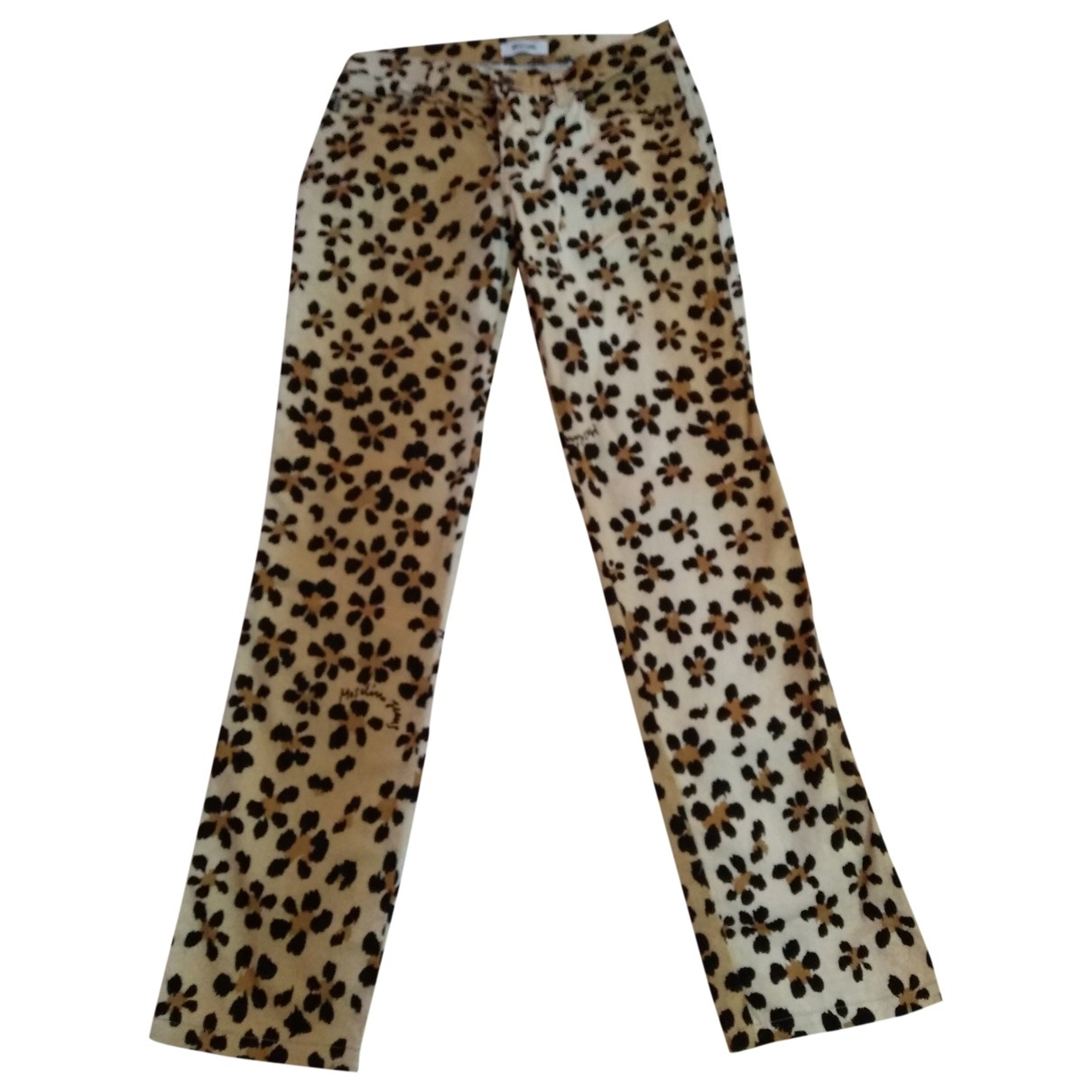Moschino \N Multicolour Cotton Trousers for Women 40 IT