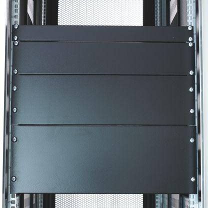 RS PRO 19-inch Blanking Panel, 1U, Grey, Steel