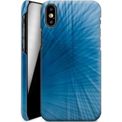 Apple iPhone X Smartphone Huelle - Blue Lines von Joy StClaire