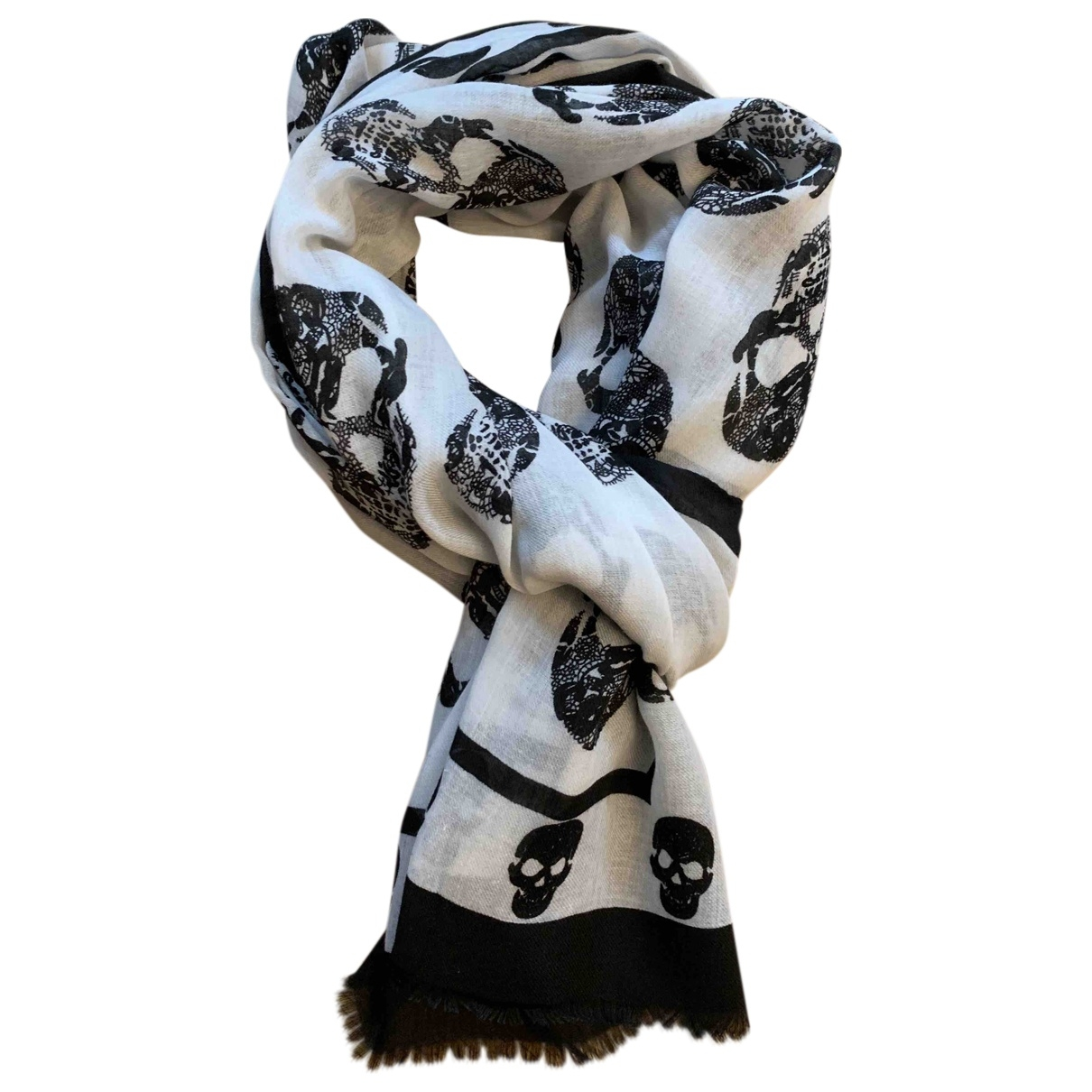 Alexander Mcqueen \N White Cotton scarf for Women \N