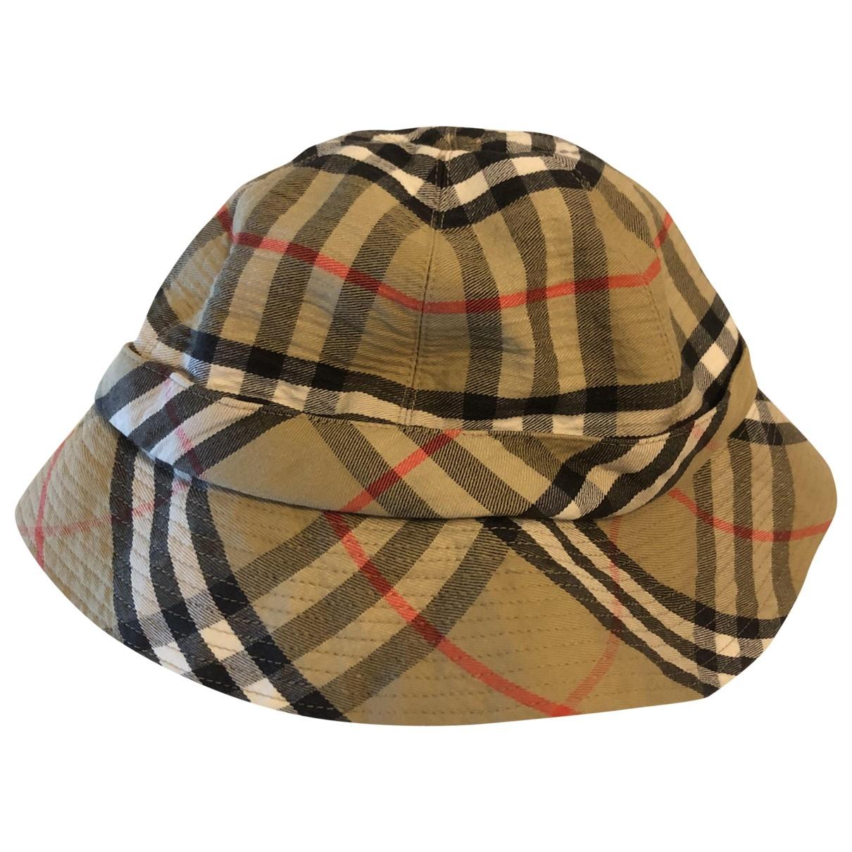 Burberry \N Camel Cotton hat & Gloves for Kids \N