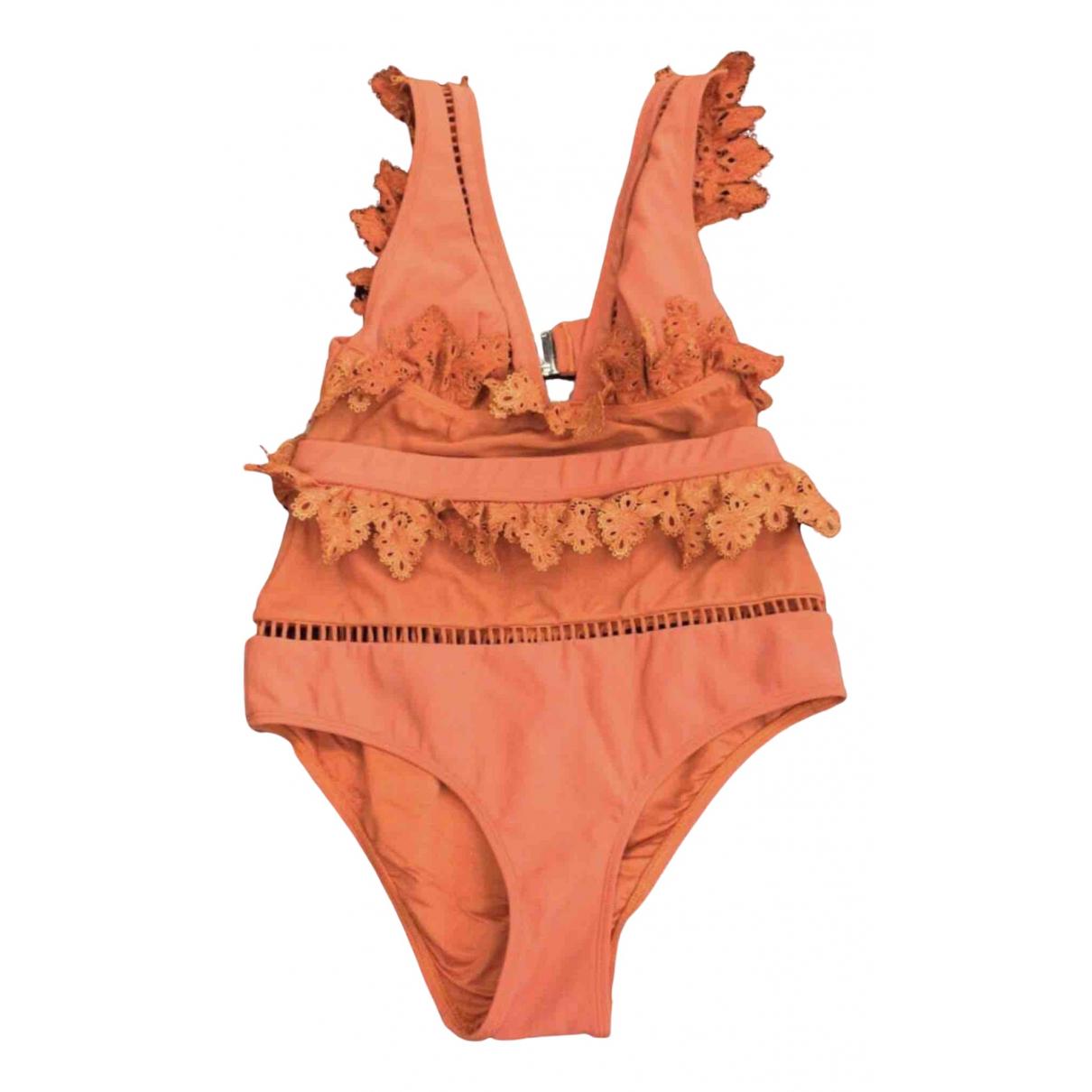 Zimmermann \N Badeanzug in  Orange Polyester