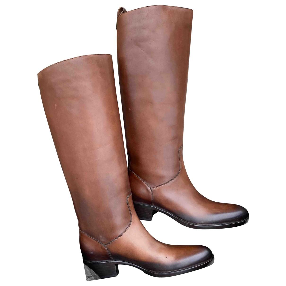 Sartore - Bottes   pour femme en cuir - marron