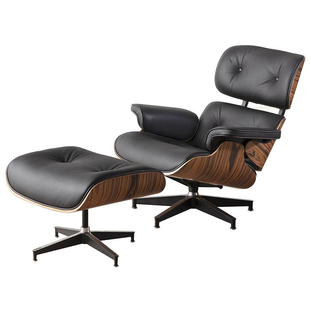 Makibes W302S00001 Lounge Chair With Pedal Seat Adjustable Rotatable Leather Chair For Office Home - Black