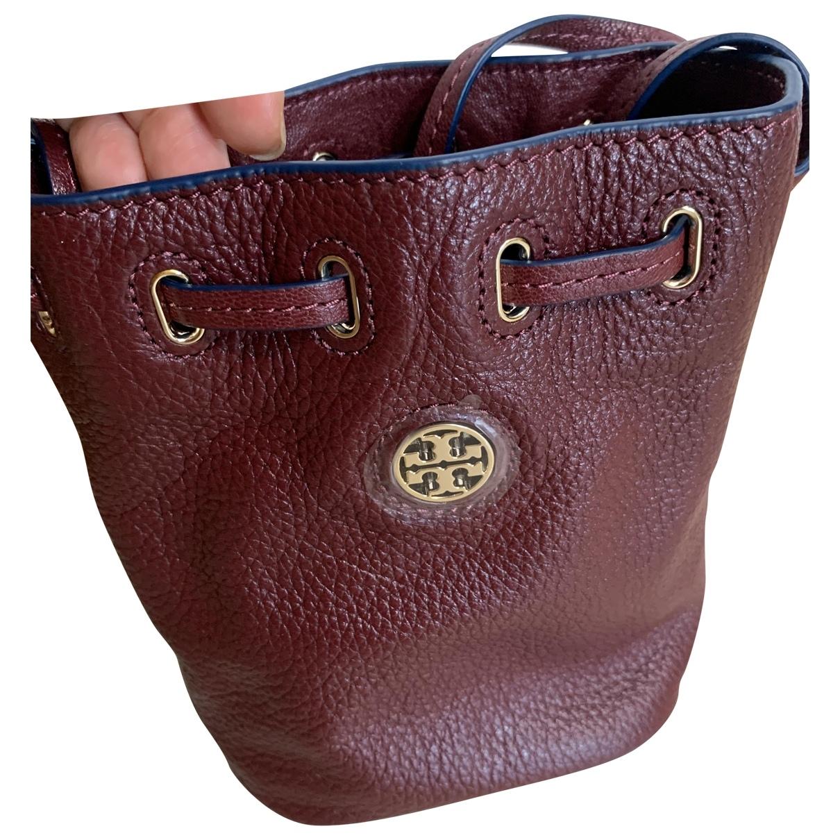 Tory Burch \N Handtasche in  Bordeauxrot Leder