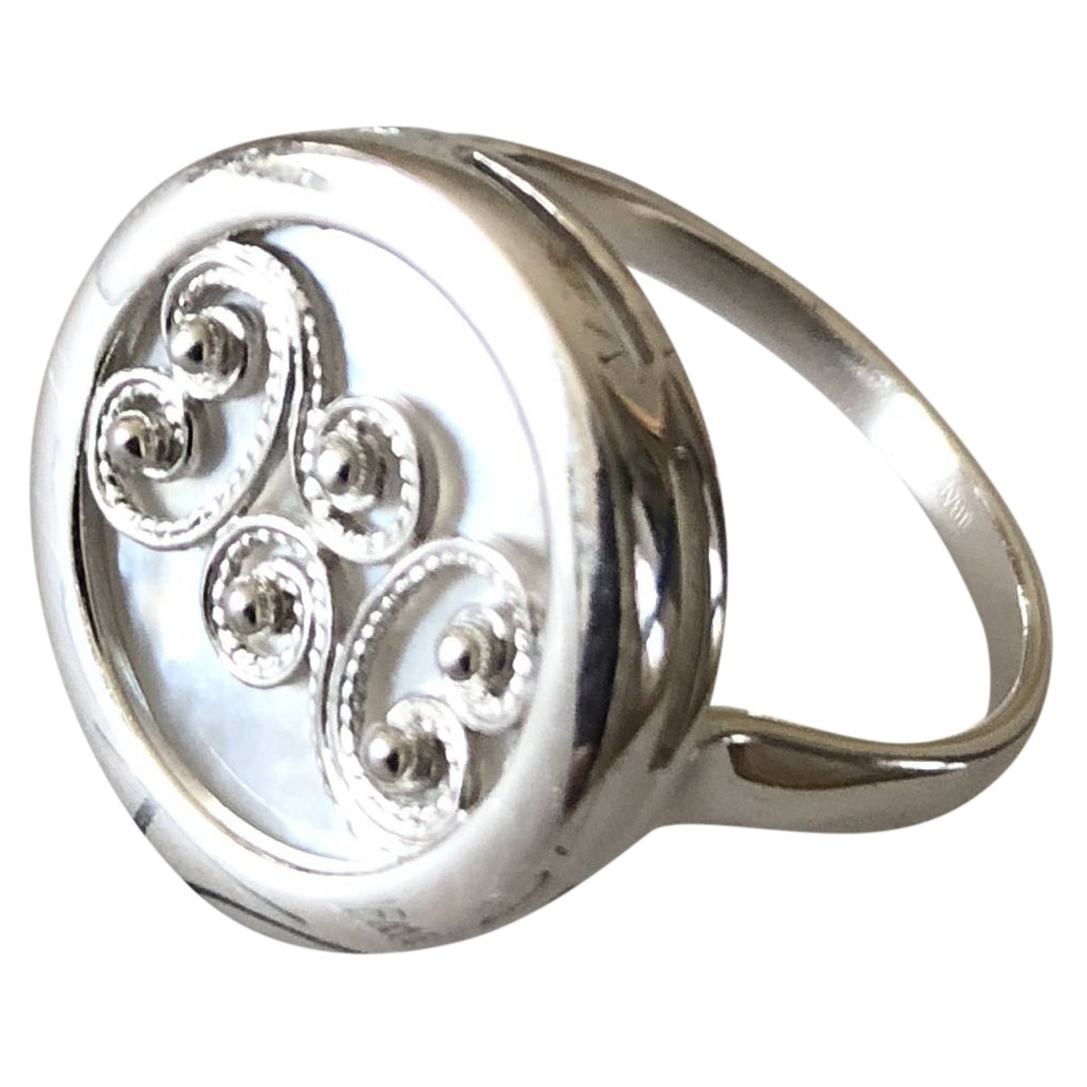 Non Signe / Unsigned Medailles Ring in  Silber Silber