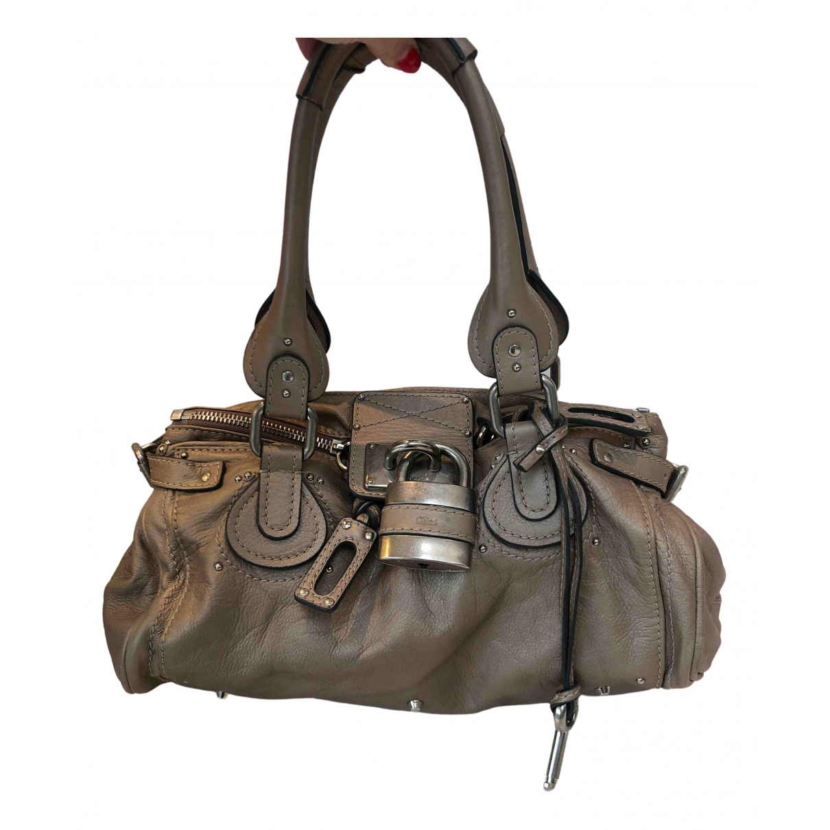 Chloé Paddington Metallic Leather handbag for Women N