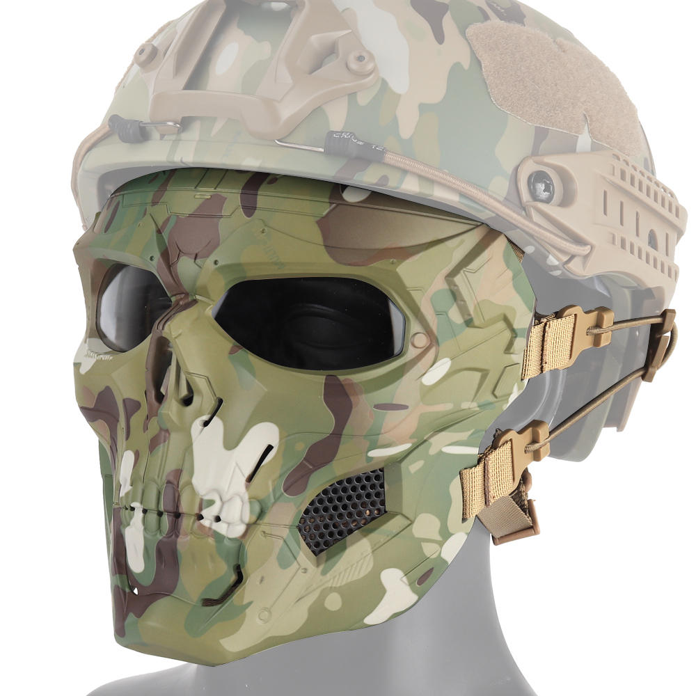 WoSporT Halloween Mask Party Game Skull Tactical Fast Helmet Paintball Airsoft Camouflage
