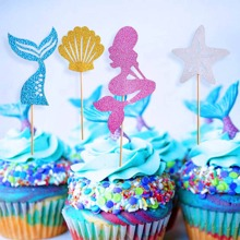 24pcs Mermaid Design Cake Topper