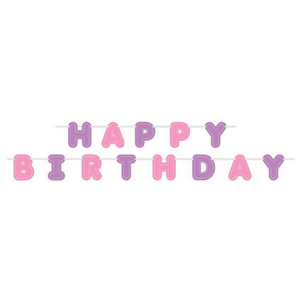Pastel Happy Birthday Letter Banner, 9 ft Pour la fête danniversaire